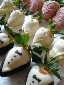 Chocolate dipped wedding strawberries