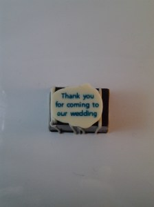 Bespoke Wedding Chocolate