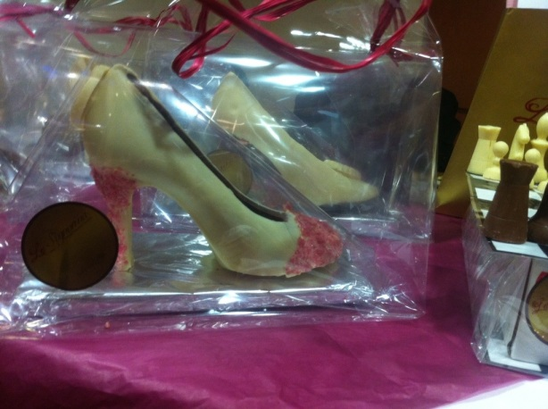 Venus Chocolate Shoes (Handmade and Fairtrade) by La Signorina Chocolates